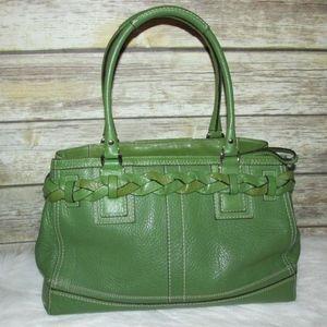 326c7c9b4a Coach Bags - Coach Hampton Green Leather Shoulder Bag Satchel